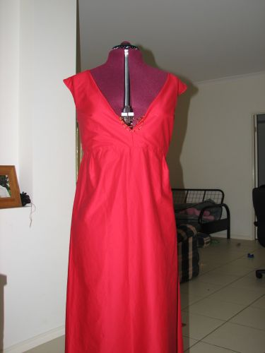 Red Dress Remodelled - Front