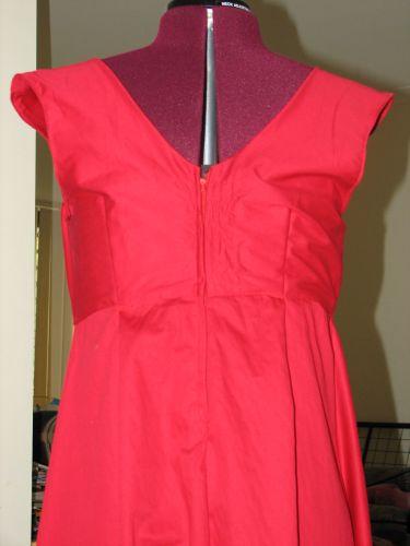 Red Dress Remodelled - Back