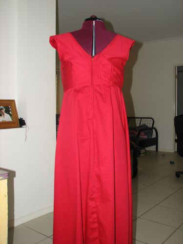 Red Dress Remodelled - Back