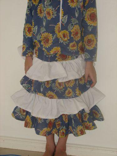 Sunflower Tier Skirt